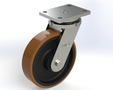 Series ZA ball bearing, Swivel castors SG-zinc plated with plate fitting up to 1800kg